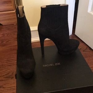 Rachel Zoe Audrey Buck Leather Booties
